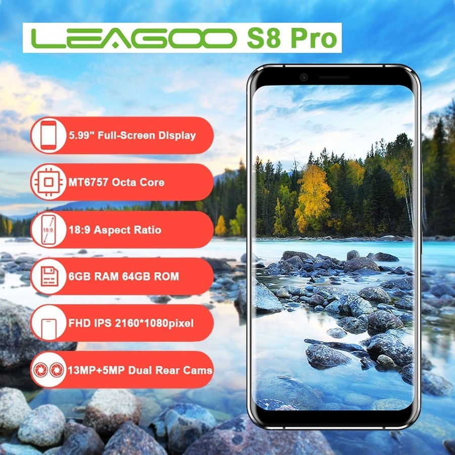 смартфон Leagoo S8 Android 7.0